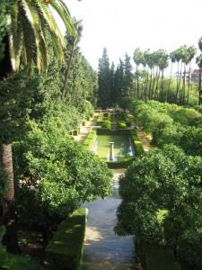 Vista a los jardines desde el Alcázar de Sevilla. Autor John Picken de Flickr.