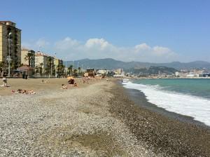 Playa de Malaga. Autor andynash de Flickr.
